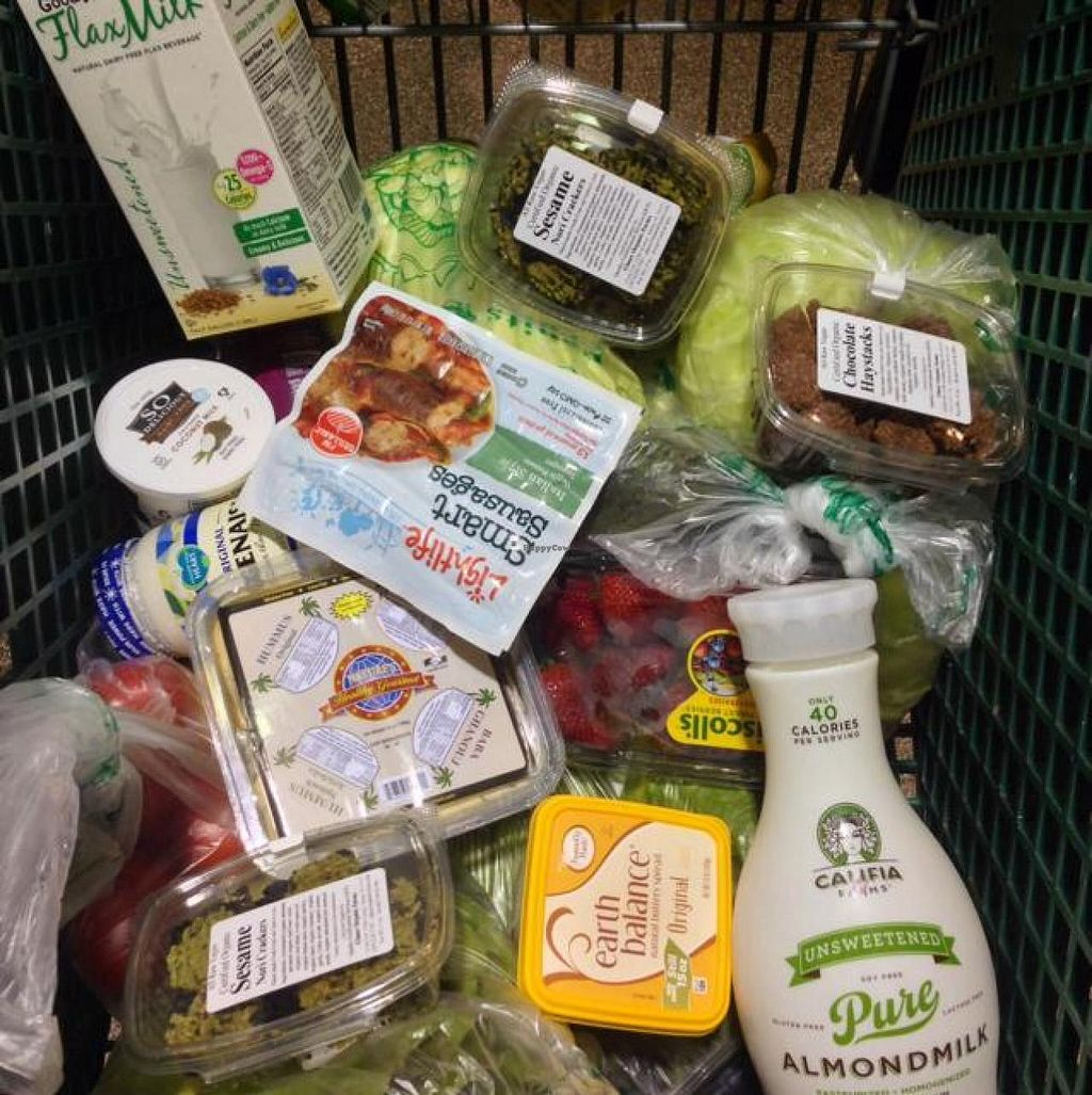"""Photo of Ada's Natural Market & Cafe  by <a href=""""/members/profile/happycowgirl"""">happycowgirl</a> <br/>a cart full of vegan delights! : ) <br/> May 17, 2014  - <a href='/contact/abuse/image/27916/70172'>Report</a>"""