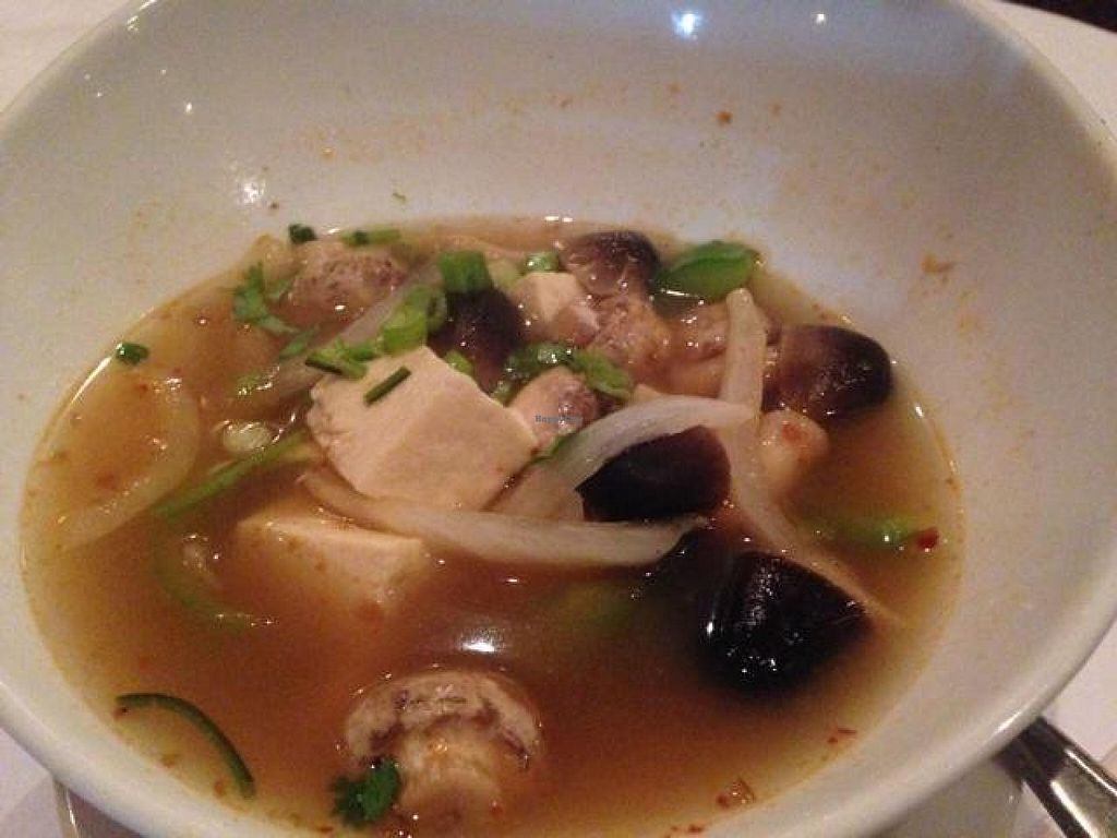 """Photo of Buddha's Thai Bistro  by <a href=""""/members/profile/calamaestra"""">calamaestra</a> <br/>Tom yum tofu soup <br/> August 1, 2014  - <a href='/contact/abuse/image/27927/75774'>Report</a>"""