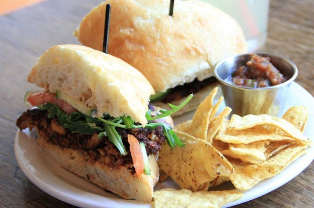 """Photo of Sweet Hereafter  by <a href=""""/members/profile/Julie%20R"""">Julie R</a> <br/>Blackened tempeh burger.  My friend had it and said it was delicious <br/> August 29, 2015  - <a href='/contact/abuse/image/27937/115671'>Report</a>"""