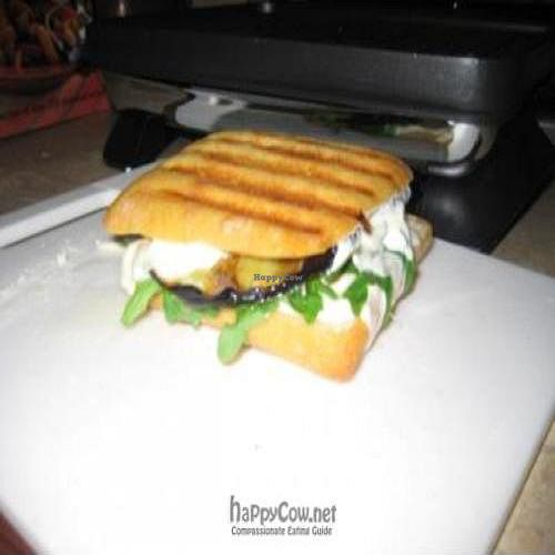 """Photo of CLOSED: Melissa's Sidewalk Cafe  by <a href=""""/members/profile/Micheal22reahl"""">Micheal22reahl</a> <br/>Grilled Eggplant, Arugula and Mozzarella Panini <br/> September 9, 2011  - <a href='/contact/abuse/image/27941/10527'>Report</a>"""