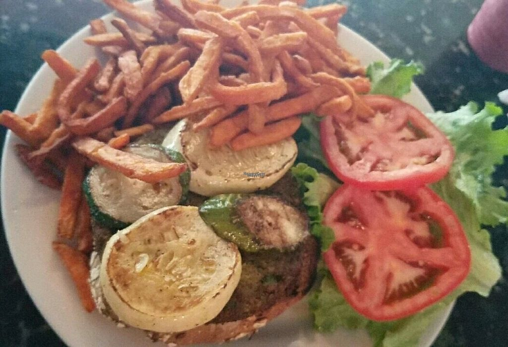"Photo of CLOSED: Granny  Feelgood's  by <a href=""/members/profile/Consciouschink"">Consciouschink</a> <br/>vegetarian burger with a side of sweet potato fries  <br/> December 13, 2016  - <a href='/contact/abuse/image/27943/200689'>Report</a>"