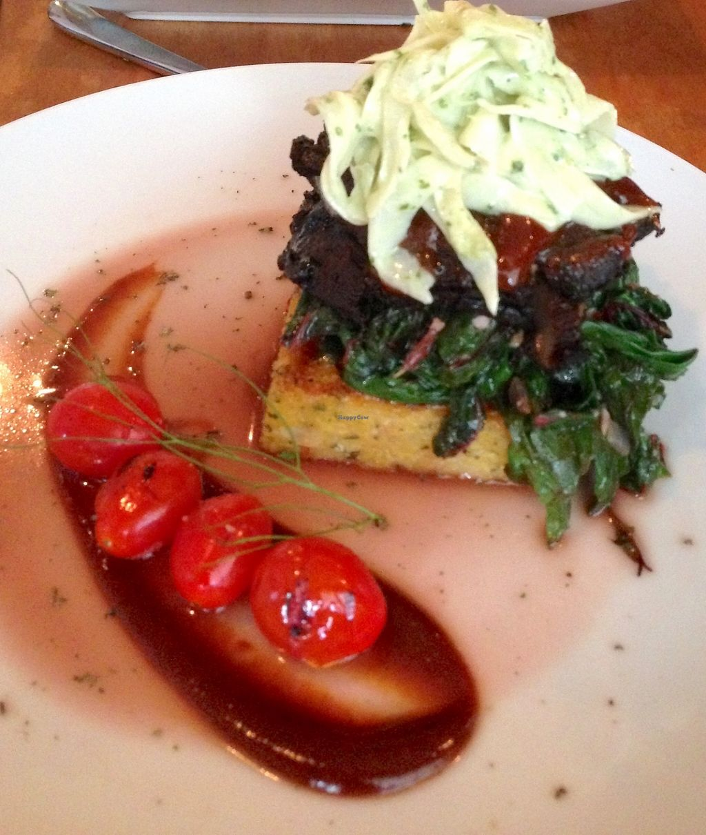 """Photo of Plant  by <a href=""""/members/profile/LaurenV"""">LaurenV</a> <br/>Polenta stacked with spinach and slaw was beyond delicious and I had leftovers the next day! <br/> November 20, 2015  - <a href='/contact/abuse/image/27945/213413'>Report</a>"""