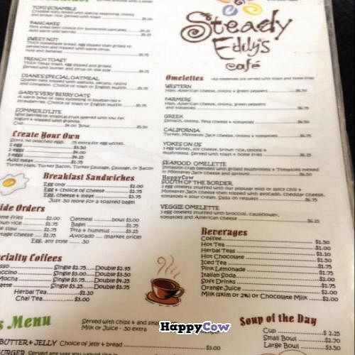"""Photo of Steady Eddy's Cafe at the Market  by <a href=""""/members/profile/Mariarosekicks"""">Mariarosekicks</a> <br/>menu <br/> November 2, 2013  - <a href='/contact/abuse/image/27959/57785'>Report</a>"""