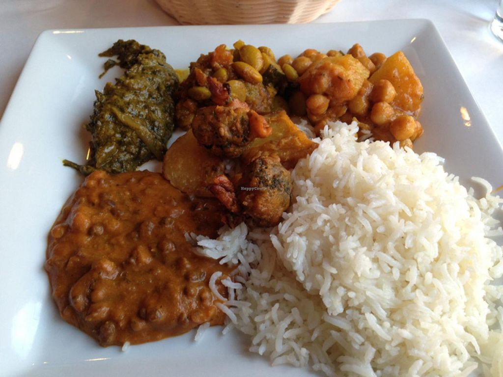 """Photo of Cumin  by <a href=""""/members/profile/happycowgirl"""">happycowgirl</a> <br/>a sampling of vegetarian items from the buffet <br/> January 23, 2015  - <a href='/contact/abuse/image/27978/91134'>Report</a>"""