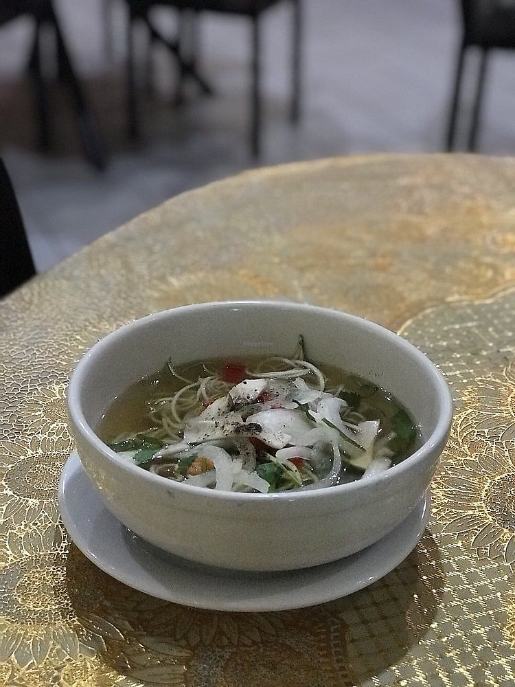 """Photo of D'Vegan  by <a href=""""/members/profile/nlevine94"""">nlevine94</a> <br/>Zucchini noodle pho appetizer. Light and flavorful and not too filling <br/> November 7, 2017  - <a href='/contact/abuse/image/28073/322950'>Report</a>"""