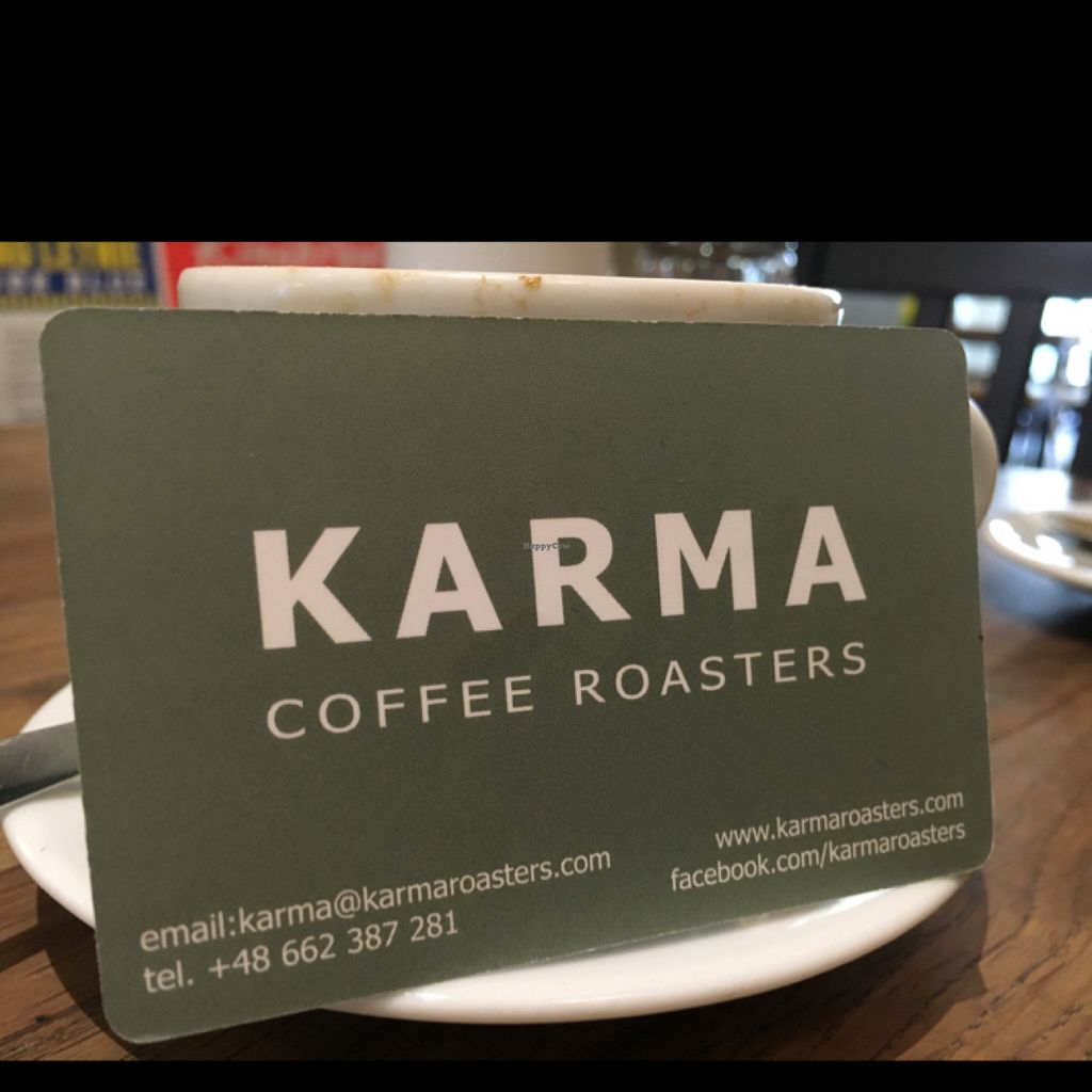 "Photo of Karma Organic Coffee  by <a href=""/members/profile/hack_man"">hack_man</a> <br/>business card  <br/> July 25, 2016  - <a href='/contact/abuse/image/28075/162162'>Report</a>"