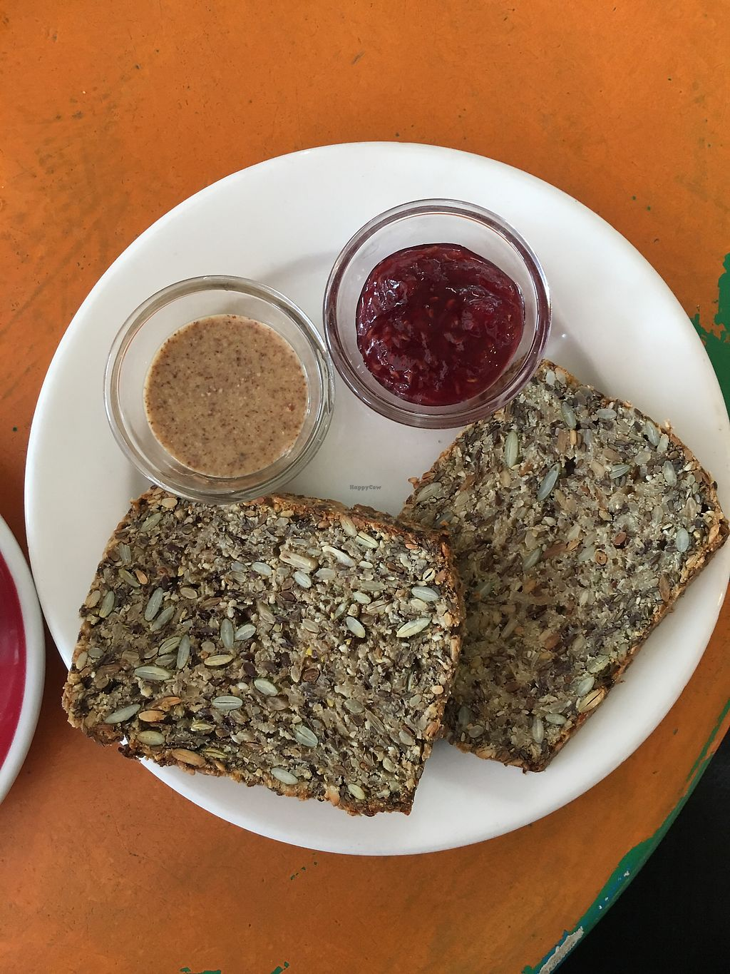 """Photo of Queen Sally's Diamond Deli  by <a href=""""/members/profile/danielaj"""">danielaj</a> <br/>Toasted seeded bread w almond butter and jam <br/> April 30, 2018  - <a href='/contact/abuse/image/28109/392938'>Report</a>"""