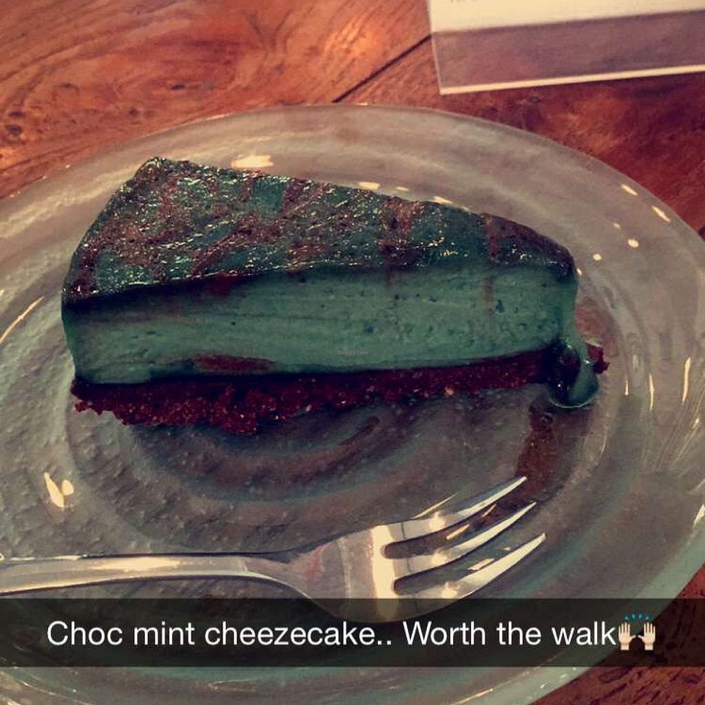 """Photo of Alchemy  by <a href=""""/members/profile/bthevegantraveller"""">bthevegantraveller</a> <br/>raw choc mint cheesecake <br/> March 10, 2016  - <a href='/contact/abuse/image/28110/139516'>Report</a>"""