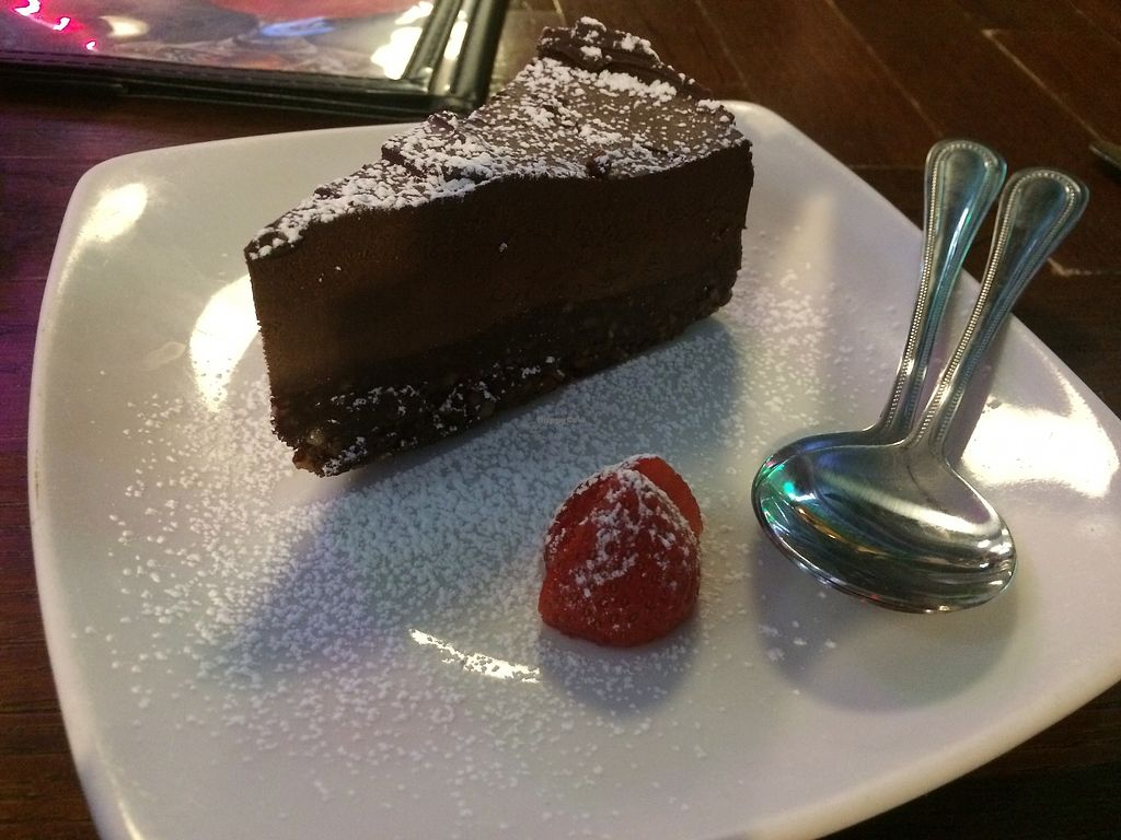 """Photo of Duke's Alehouse and Kitchen  by <a href=""""/members/profile/HeidiMignonne"""">HeidiMignonne</a> <br/>Vegan, GF Chocolate Cake. They also have great Conscious Cup Coffee! <br/> March 7, 2018  - <a href='/contact/abuse/image/28115/367812'>Report</a>"""