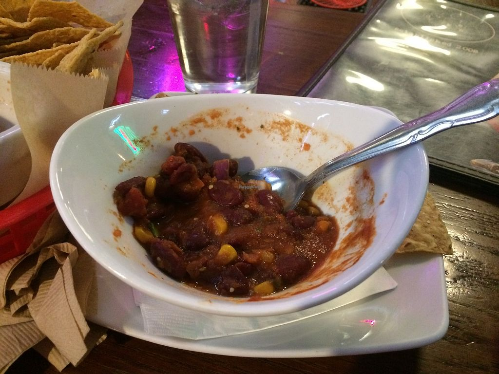 """Photo of Duke's Alehouse and Kitchen  by <a href=""""/members/profile/HeidiMignonne"""">HeidiMignonne</a> <br/>Vegan Chili  <br/> March 7, 2018  - <a href='/contact/abuse/image/28115/367813'>Report</a>"""