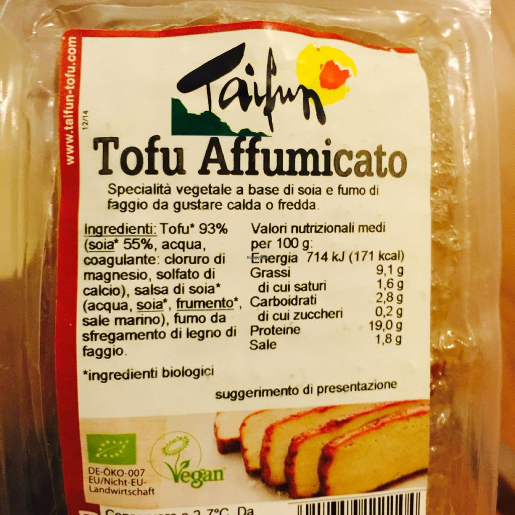 "Photo of Tropical Fruits dal Campo per Voi  by <a href=""/members/profile/heyheyrenee"">heyheyrenee</a> <br/>Delicious smoked tofu <br/> May 16, 2015  - <a href='/contact/abuse/image/28143/102368'>Report</a>"