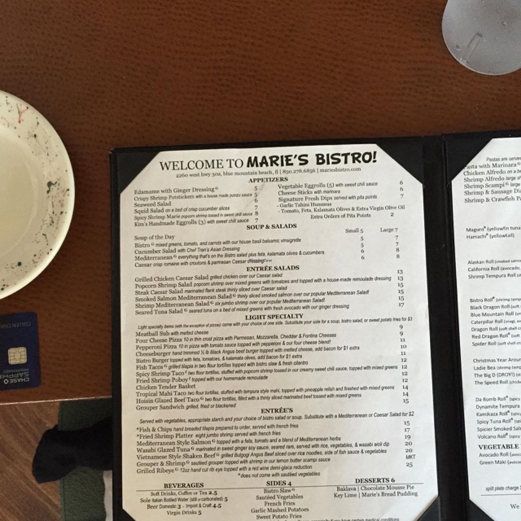 "Photo of CLOSED: Marie's Bistro  by <a href=""/members/profile/cessnarox"">cessnarox</a> <br/>dinner menu <br/> January 17, 2015  - <a href='/contact/abuse/image/28156/90528'>Report</a>"