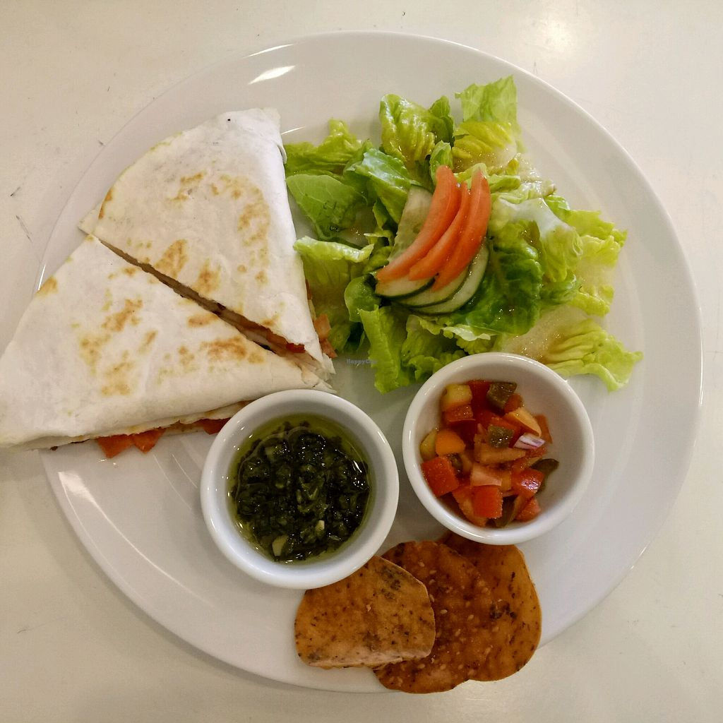 "Photo of The Good Seed Vegan  by <a href=""/members/profile/QUEENDIANE"">QUEENDIANE</a> <br/>Quesadilla <br/> May 1, 2018  - <a href='/contact/abuse/image/28167/393322'>Report</a>"