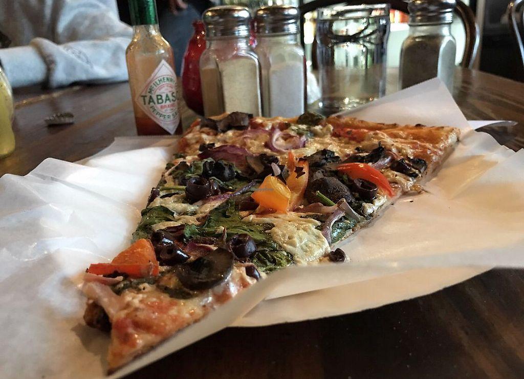 "Photo of Pizzanista  by <a href=""/members/profile/Joeybrezinski"">Joeybrezinski</a> <br/>Vegan slice  <br/> November 13, 2017  - <a href='/contact/abuse/image/28176/325036'>Report</a>"