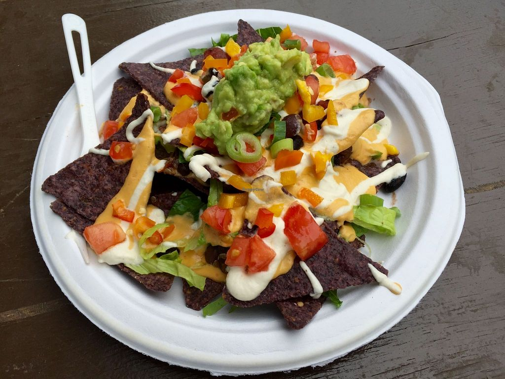 """Photo of Veggie Love Food Truck  by <a href=""""/members/profile/clovely.vegan"""">clovely.vegan</a> <br/>Nachos! <br/> October 22, 2015  - <a href='/contact/abuse/image/28195/122147'>Report</a>"""