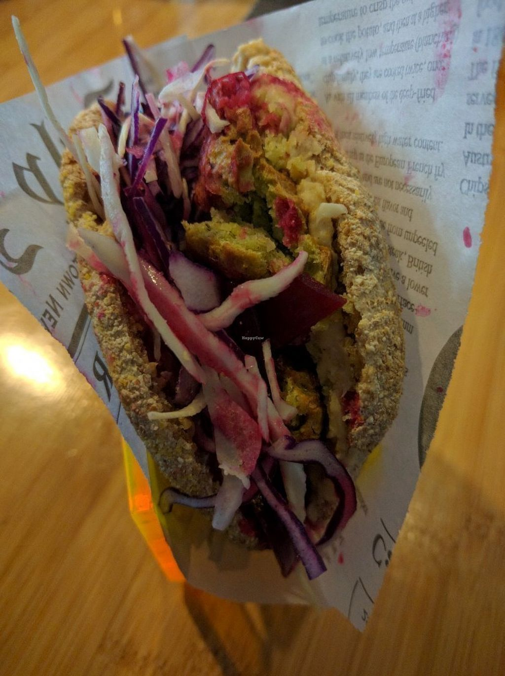 """Photo of CLOSED: Botaniq  by <a href=""""/members/profile/Sonja%20and%20Dirk"""">Sonja and Dirk</a> <br/>falafel sandwich <br/> July 27, 2016  - <a href='/contact/abuse/image/28200/162769'>Report</a>"""