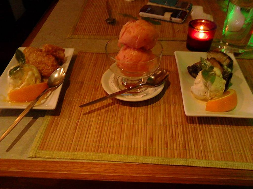 "Photo of Jasmine Thai Restaurant  by <a href=""/members/profile/Gem0970"">Gem0970</a> <br/>Yummy trio of vegan desserts <br/> August 11, 2015  - <a href='/contact/abuse/image/28220/113159'>Report</a>"