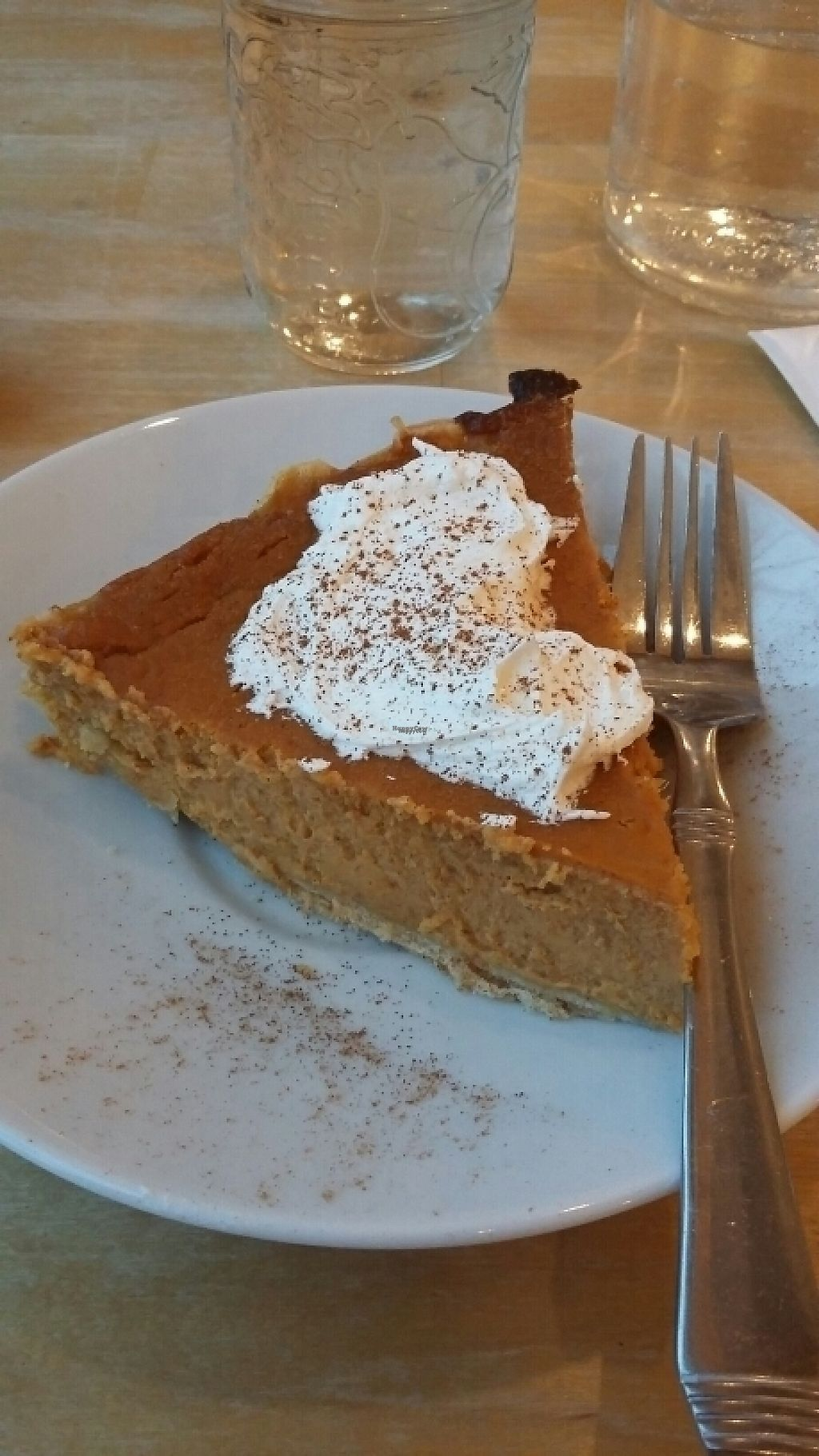 "Photo of Cafe Mosaics  by <a href=""/members/profile/WanderingWomble"">WanderingWomble</a> <br/>vegan pumpkin pie! <br/> February 6, 2017  - <a href='/contact/abuse/image/2822/223691'>Report</a>"