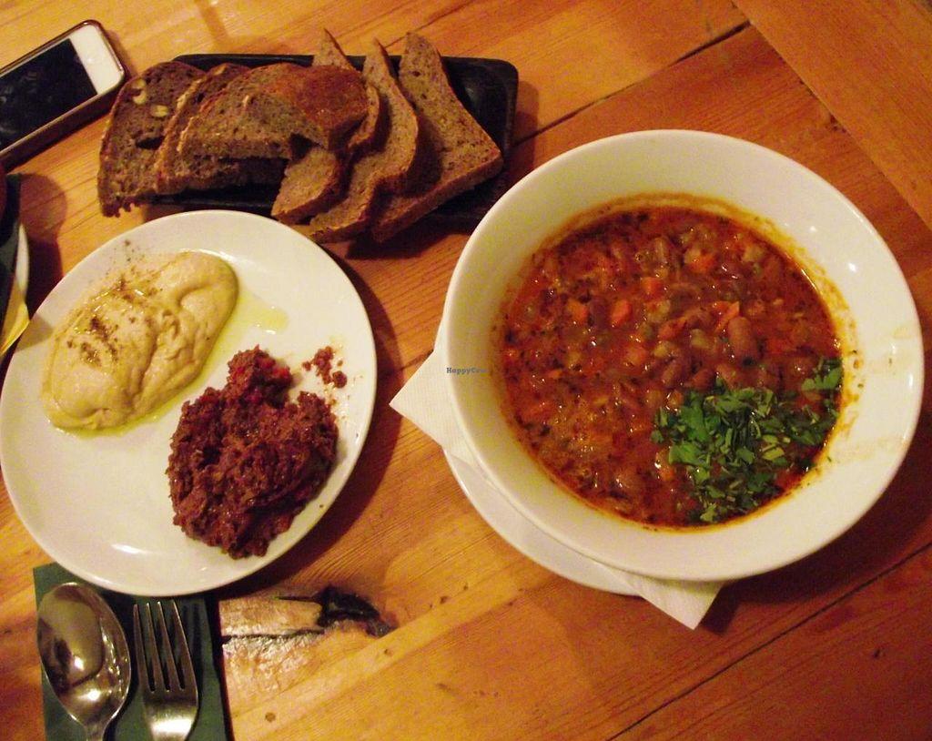 "Photo of Sunmoon Bakery - Gladston  by <a href=""/members/profile/Joanna%20Karatsaneva"">Joanna Karatsaneva</a> <br/>Freshly baked bread with hummus,olive paste and beans soup <br/> January 5, 2014  - <a href='/contact/abuse/image/28241/61850'>Report</a>"