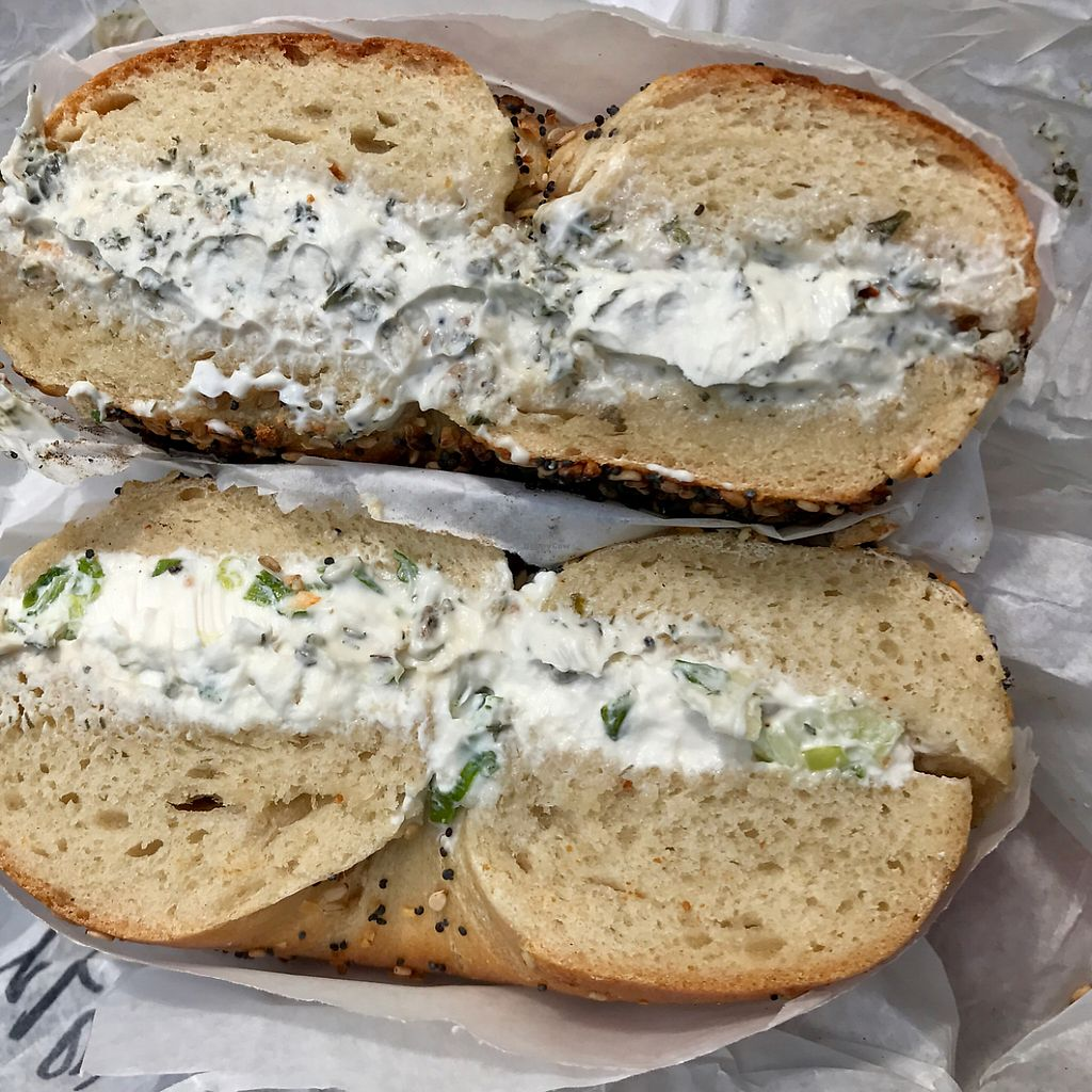 "Photo of Ess a Bagel  by <a href=""/members/profile/kvandervegan"">kvandervegan</a> <br/>so much tofu cream cheese! <br/> May 13, 2017  - <a href='/contact/abuse/image/28252/258381'>Report</a>"