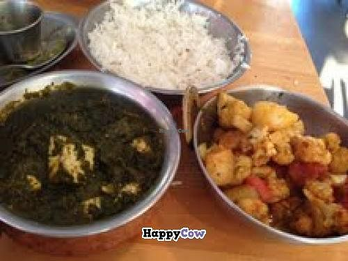 "Photo of CLOSED: Masala Grill  by <a href=""/members/profile/Vegparty"">Vegparty</a> <br/>Amazing Saag with Tofu and Aloo Gobi <br/> August 29, 2013  - <a href='/contact/abuse/image/28256/53998'>Report</a>"