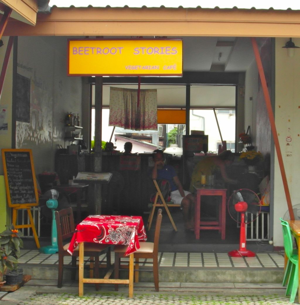 "Photo of CLOSED: Beetroot Stories Cafe  by <a href=""/members/profile/Pamina"">Pamina</a> <br/>Beetroot Stories Vegetarian Café, Chiang Mai <br/> December 26, 2015  - <a href='/contact/abuse/image/28282/129858'>Report</a>"