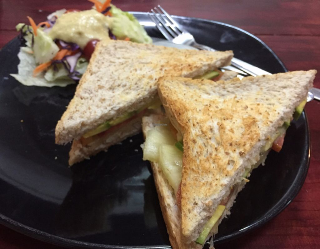 "Photo of CLOSED: Beetroot Stories Cafe  by <a href=""/members/profile/Jrosworld"">Jrosworld</a> <br/>Avocado, tomato sandwich with pineapple ginger dressing, 90 baht <br/> January 3, 2016  - <a href='/contact/abuse/image/28282/130966'>Report</a>"