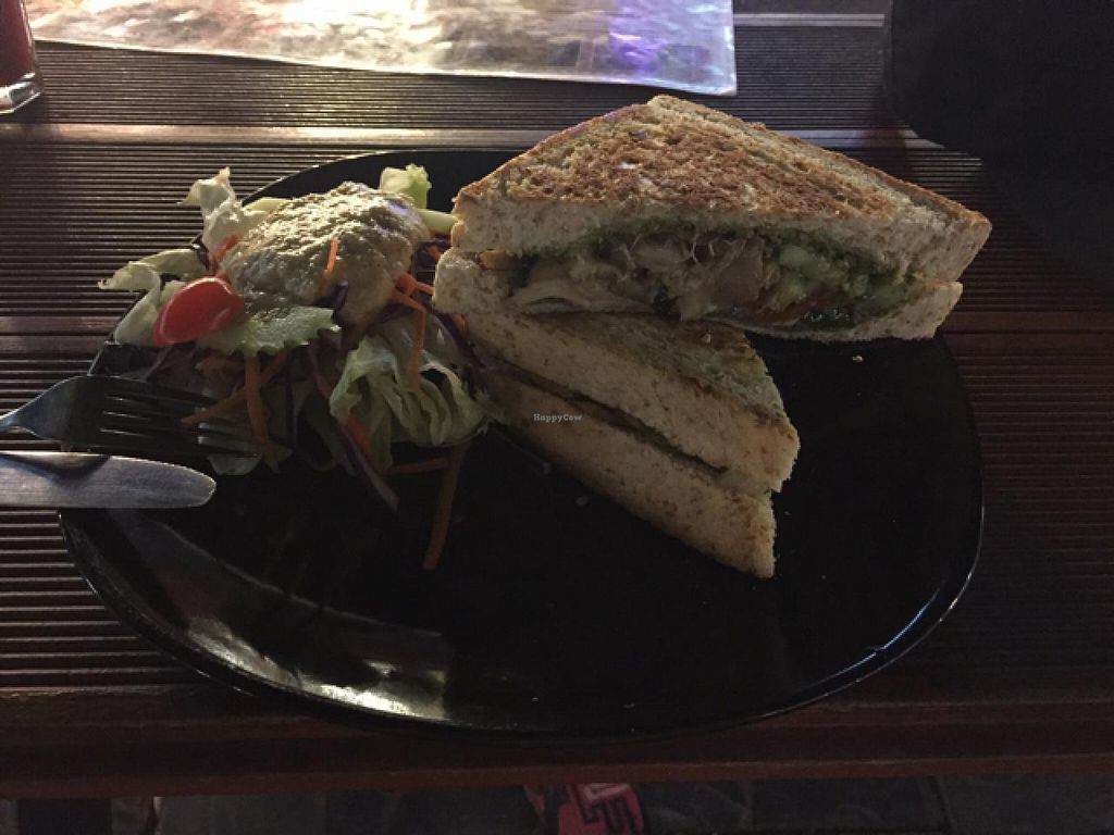 "Photo of CLOSED: Beetroot Stories Cafe  by <a href=""/members/profile/Jrosworld"">Jrosworld</a> <br/>Grilled cheese sandwich with grilled vegetables and pesto, 120 baht <br/> February 3, 2015  - <a href='/contact/abuse/image/28282/92132'>Report</a>"