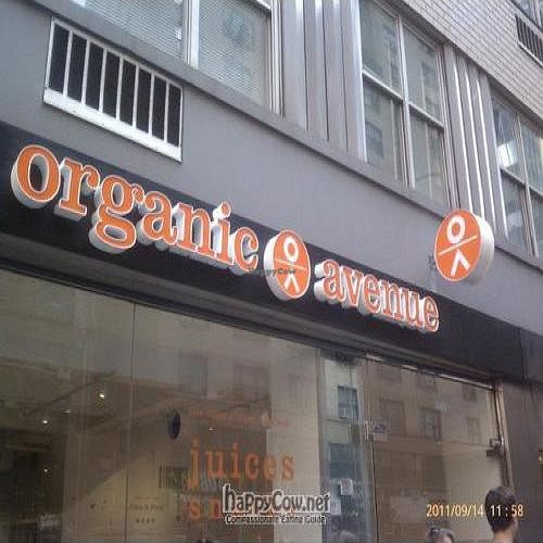 Photo of CLOSED: Organic Avenue - Lexington Ave  by Chuck <br/> September 14, 2011  - <a href='/contact/abuse/image/28286/10612'>Report</a>