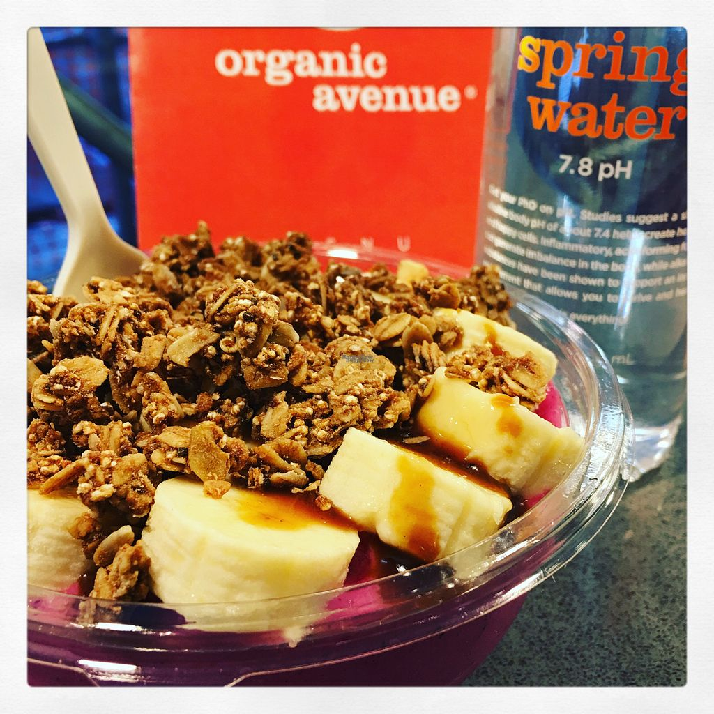 """Photo of CLOSED: Organic Avenue - Lexington Ave  by <a href=""""/members/profile/Jjoyal"""">Jjoyal</a> <br/>Pink Peace smoothie bowl.  <br/> October 11, 2016  - <a href='/contact/abuse/image/28286/181361'>Report</a>"""