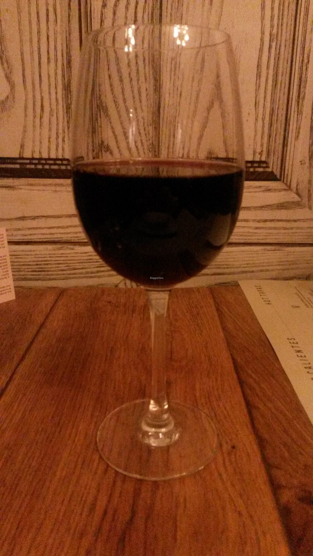"""Photo of Ambiente Tapas - Goodramgate  by <a href=""""/members/profile/deadpledge"""">deadpledge</a> <br/>Vegan red wine <br/> November 11, 2017  - <a href='/contact/abuse/image/28304/324242'>Report</a>"""