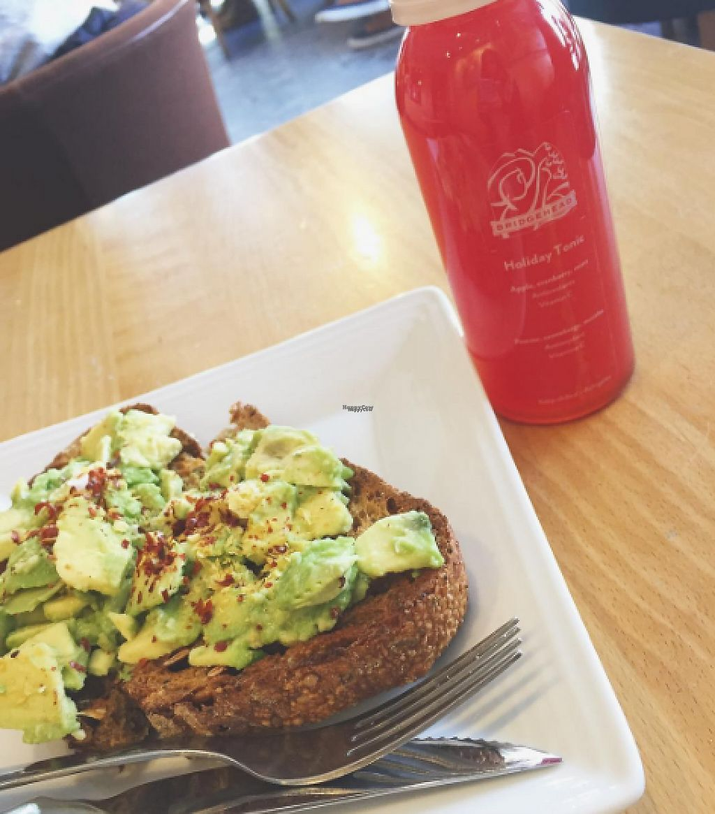 """Photo of Bridgehead Coffeehouse  by <a href=""""/members/profile/tarsbo"""">tarsbo</a> <br/>Avocado toast with nutritional yeast and red chilli flakes <br/> March 6, 2017  - <a href='/contact/abuse/image/28314/233553'>Report</a>"""