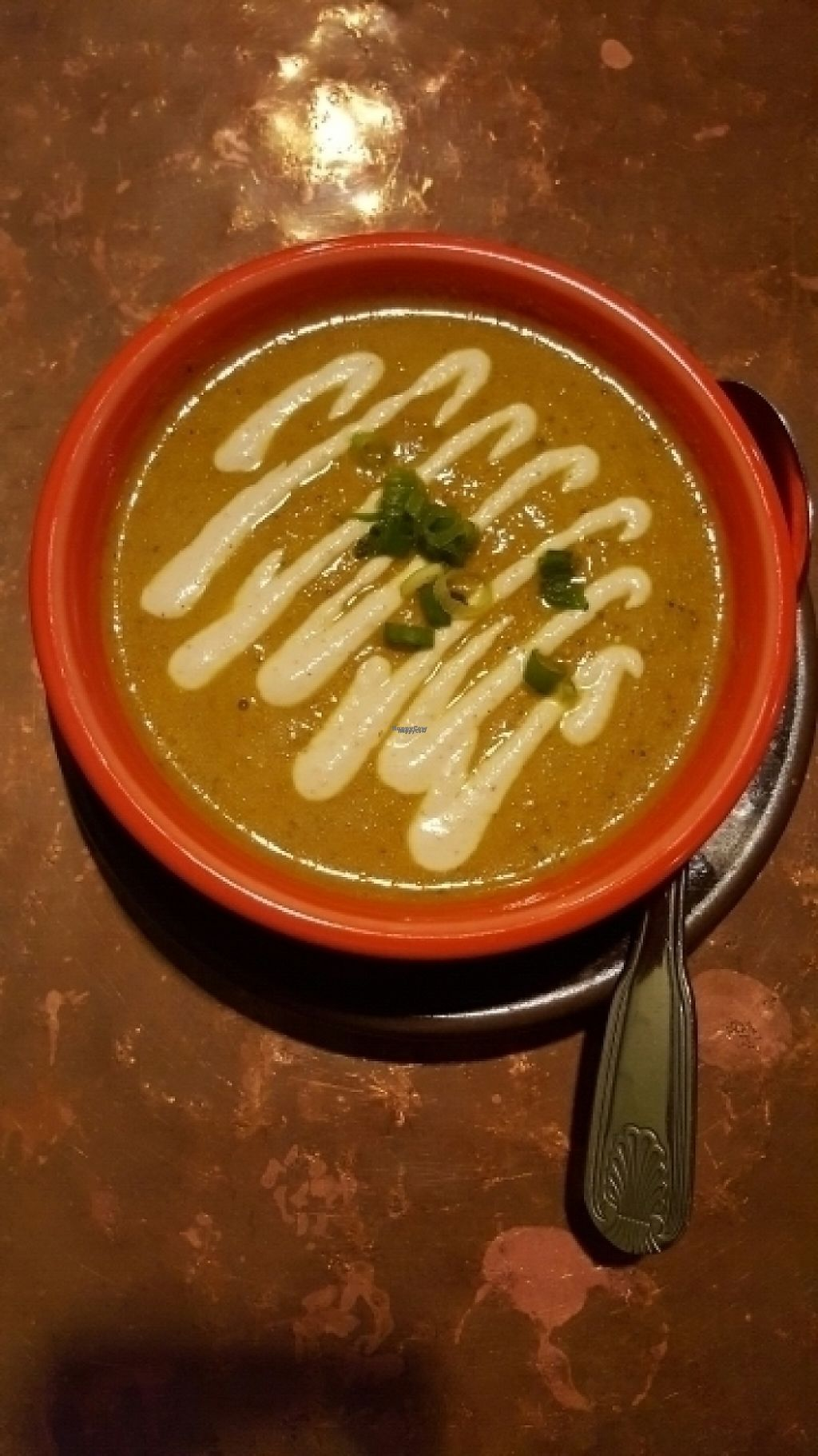 """Photo of Cafe Gratitude  by <a href=""""/members/profile/MistedForest"""">MistedForest</a> <br/>love their spicey curry soup special <br/> August 11, 2016  - <a href='/contact/abuse/image/28319/188933'>Report</a>"""