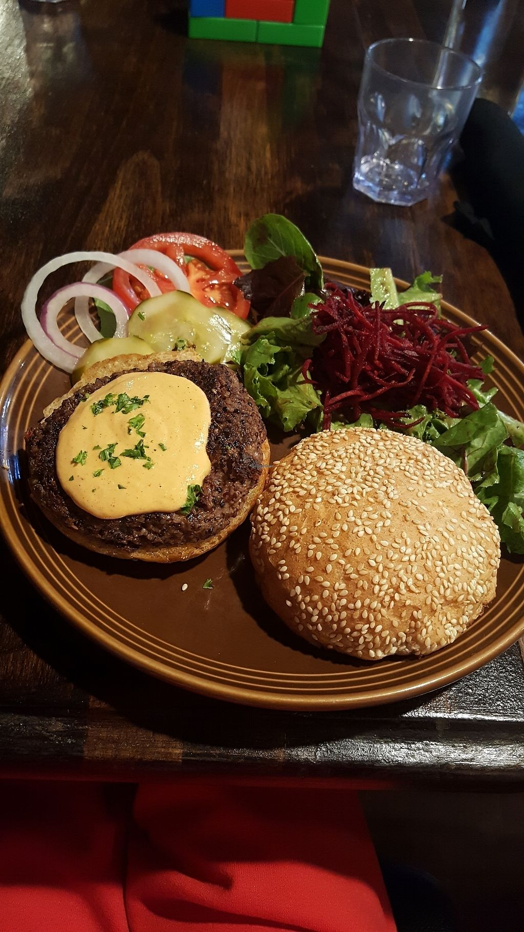 """Photo of Cafe Gratitude  by <a href=""""/members/profile/veganbrownie"""">veganbrownie</a> <br/>the bean burger with spicy cashew Chipotle cheese (this was awesome!l <br/> July 30, 2017  - <a href='/contact/abuse/image/28319/286524'>Report</a>"""