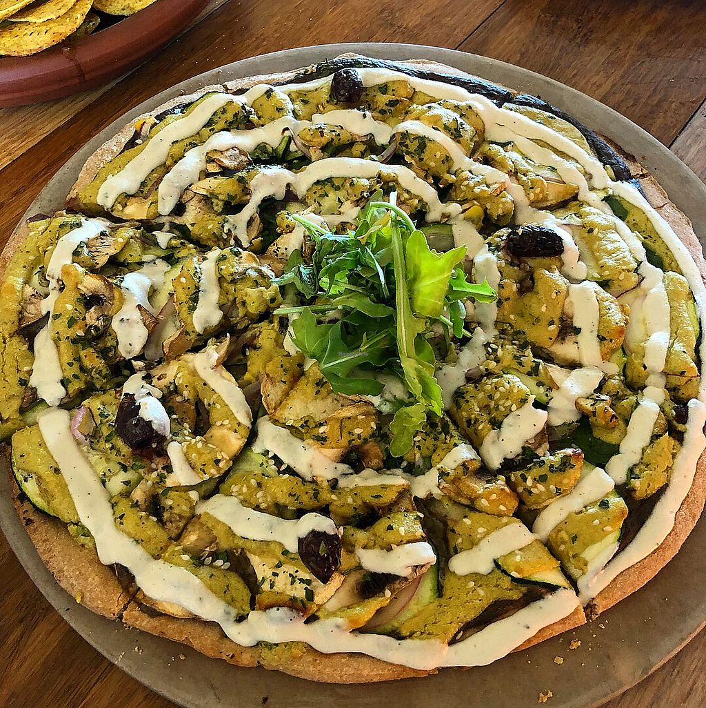 """Photo of Mandala & Co  by <a href=""""/members/profile/ben_eitel"""">ben_eitel</a> <br/>Creamy Mushroom Pizza <br/> January 3, 2018  - <a href='/contact/abuse/image/28343/342445'>Report</a>"""