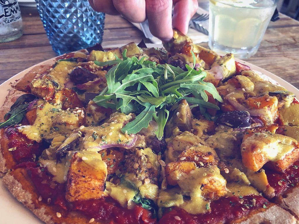"Photo of Mandala & Co  by <a href=""/members/profile/Veggevi"">Veggevi</a> <br/>Pumpkin and Eggplant pizza <br/> February 3, 2018  - <a href='/contact/abuse/image/28343/354327'>Report</a>"