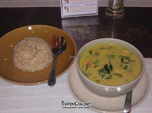 "Photo of Thai Room  by <a href=""/members/profile/eric"">eric</a> <br/>Green curry and brown rice <br/> April 18, 2012  - <a href='/contact/abuse/image/28350/30675'>Report</a>"