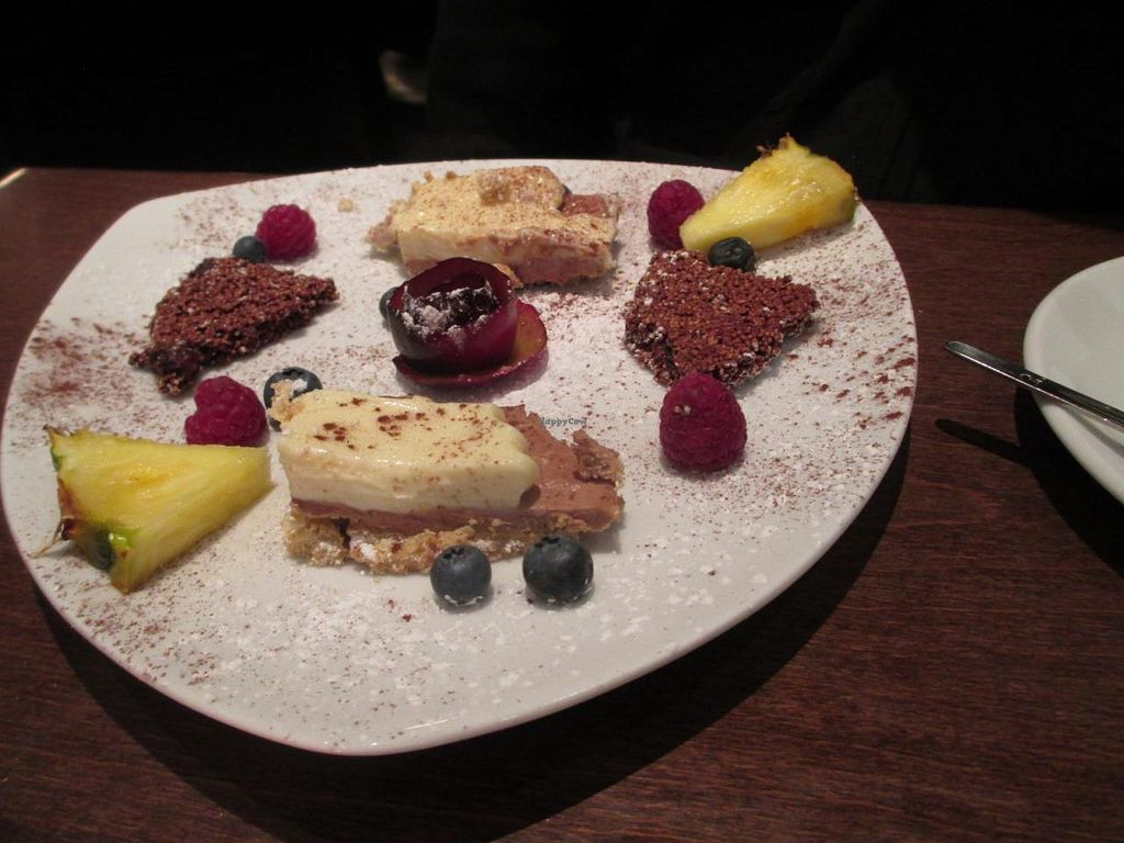 """Photo of Ecco  by <a href=""""/members/profile/Joyatri"""">Joyatri</a> <br/>Dessert plate with little cakes and fruit <br/> November 30, 2014  - <a href='/contact/abuse/image/28383/86828'>Report</a>"""