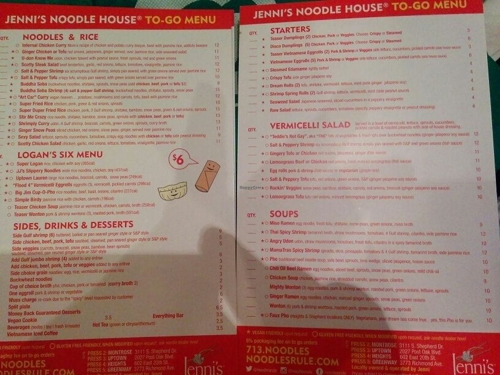 "Photo of Jenni's Noodle House - S Shepherd  by <a href=""/members/profile/MizzB"">MizzB</a> <br/>take out menus <br/> May 6, 2017  - <a href='/contact/abuse/image/28388/256037'>Report</a>"