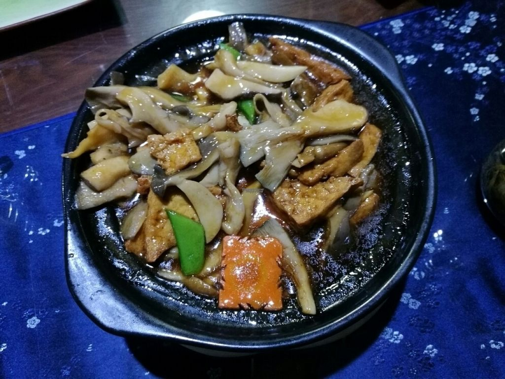 "Photo of Fu Hui Ci Yuan Vegetarian Cultural Restaurant  by <a href=""/members/profile/Yugi"">Yugi</a> <br/>tofu with mushrooms <br/> November 3, 2016  - <a href='/contact/abuse/image/28431/186344'>Report</a>"