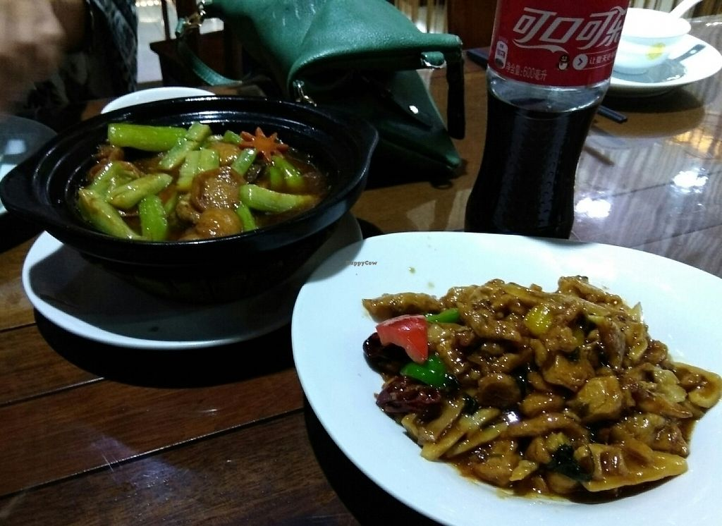"Photo of Fu Hui Ci Yuan Vegetarian Cultural Restaurant  by <a href=""/members/profile/happyhappycoo"">happyhappycoo</a> <br/>""chicken"" with bamboo and tofu with courgette <br/> June 6, 2017  - <a href='/contact/abuse/image/28431/266300'>Report</a>"