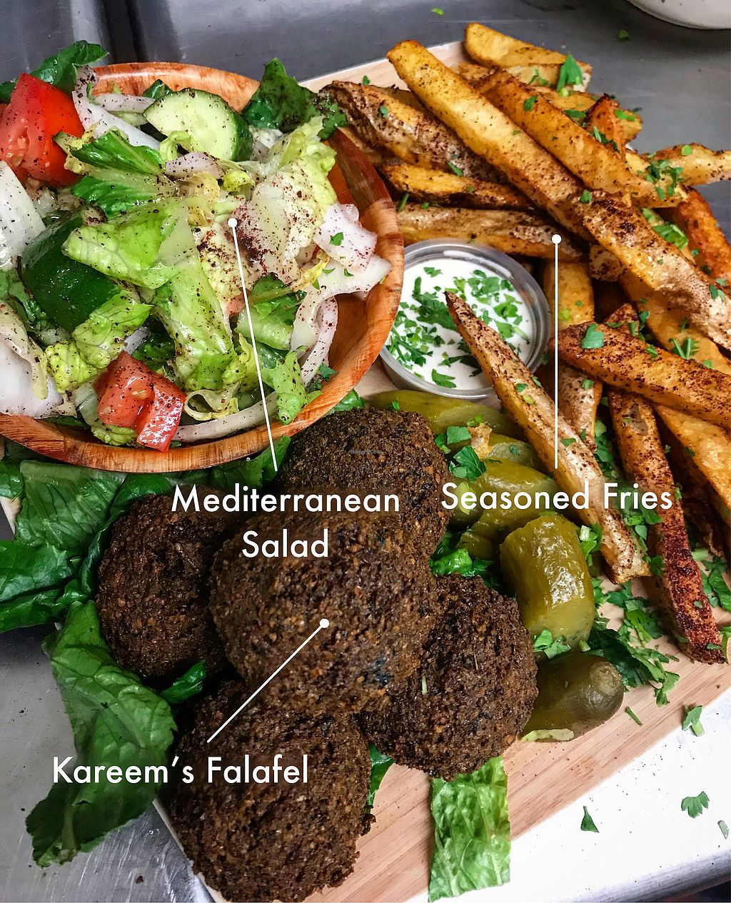 "Photo of Kareem's  by <a href=""/members/profile/KareemHawari"">KareemHawari</a> <br/>Falafel Plate!  <br/> February 7, 2018  - <a href='/contact/abuse/image/28438/356107'>Report</a>"