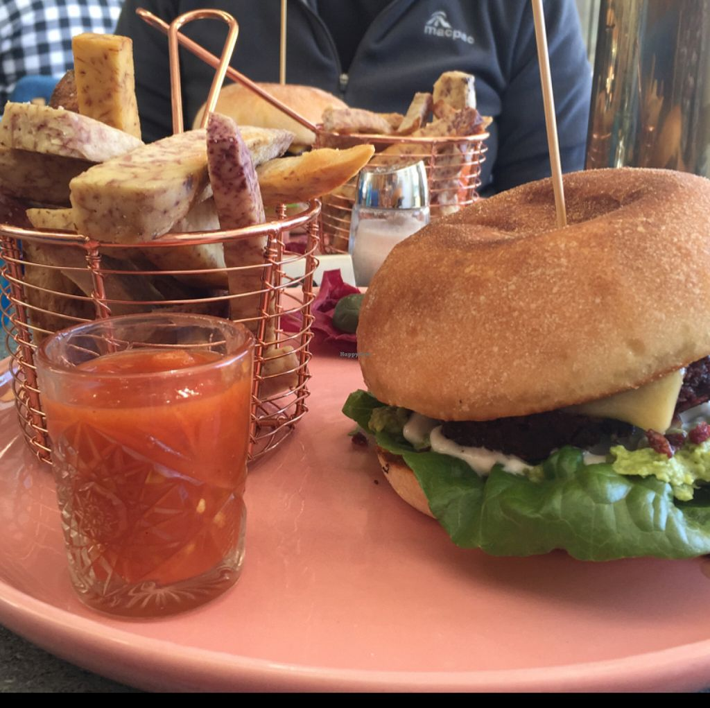 """Photo of The Cardamom Pod - The Brickworks Centre  by <a href=""""/members/profile/candybaaby"""">candybaaby</a> <br/>protein burger, cassava fries <br/> June 19, 2016  - <a href='/contact/abuse/image/28442/154877'>Report</a>"""
