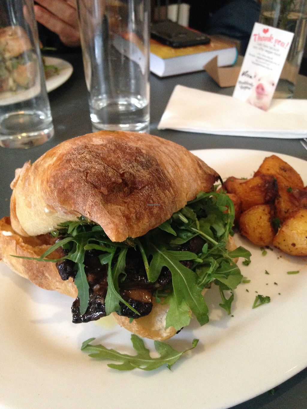 "Photo of Chapel Arts Cafe  by <a href=""/members/profile/FranMcgarryArtist"">FranMcgarryArtist</a> <br/>Amazing Vegan Mushroom Burger <br/> May 13, 2017  - <a href='/contact/abuse/image/28449/258471'>Report</a>"