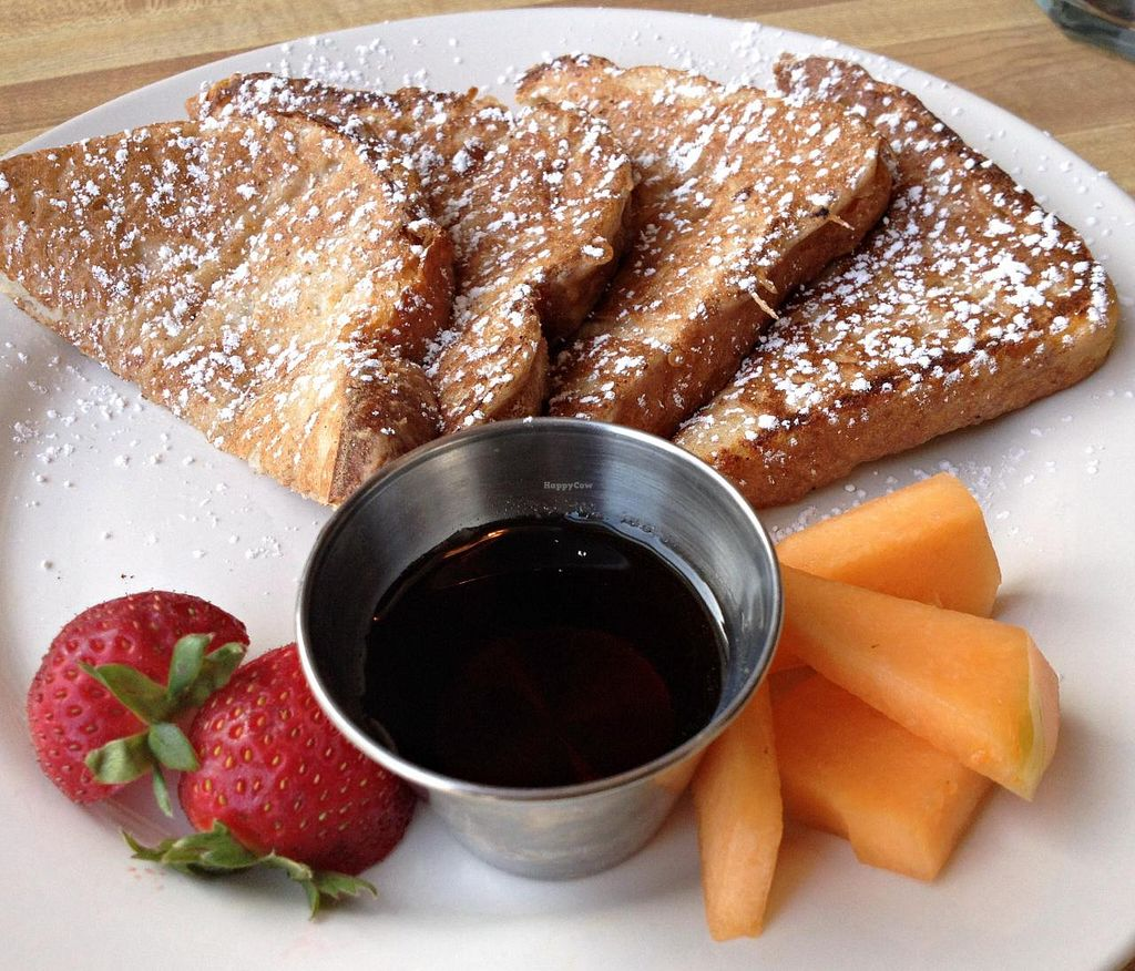 Photo of The National Cafe  by RamblingVegans <br/>Vegan French Toast <br/> August 15, 2014  - <a href='/contact/abuse/image/28463/77114'>Report</a>