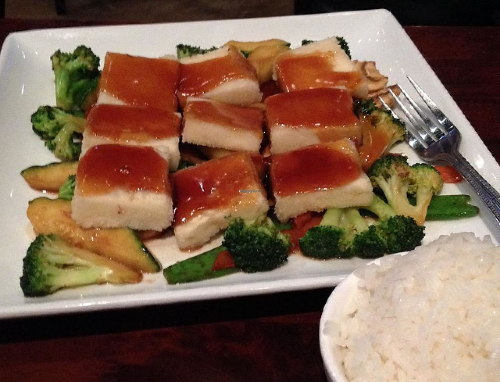 """Photo of Geisha Sushi Bistro  by <a href=""""/members/profile/Hvasser"""">Hvasser</a> <br/>Fried tofu with rice <br/> December 25, 2014  - <a href='/contact/abuse/image/28467/200902'>Report</a>"""