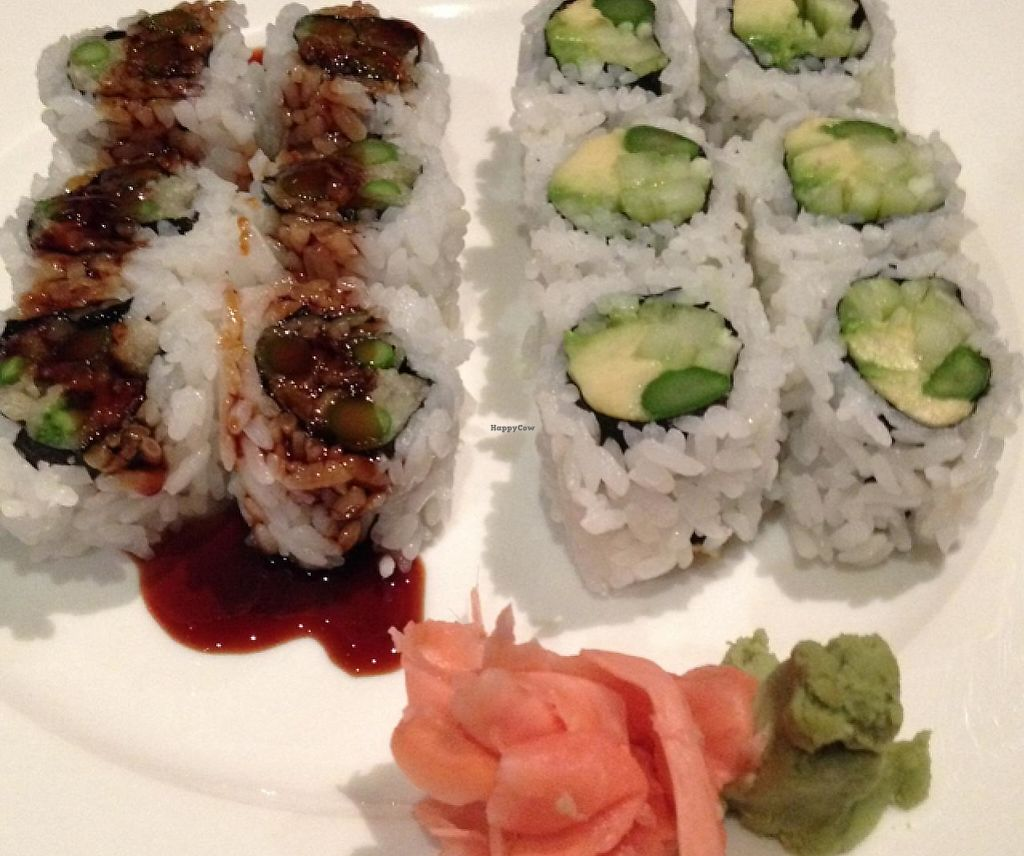 "Photo of Geisha Sushi Bistro  by <a href=""/members/profile/Hvasser"">Hvasser</a> <br/>Tempura sushi(left) advocado sushi(right) <br/> December 25, 2014  - <a href='/contact/abuse/image/28467/200903'>Report</a>"
