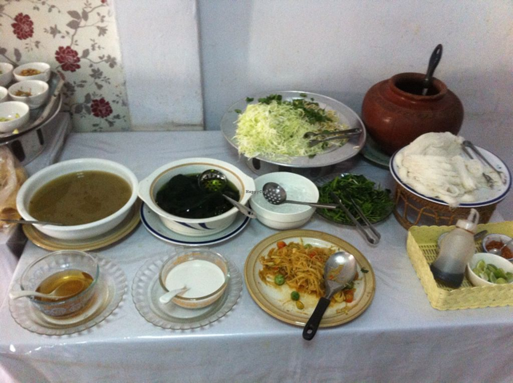 """Photo of Phounsub Restaurant  by <a href=""""/members/profile/Arvid"""">Arvid</a> <br/>Soup and dessert <br/> February 28, 2016  - <a href='/contact/abuse/image/28485/138152'>Report</a>"""