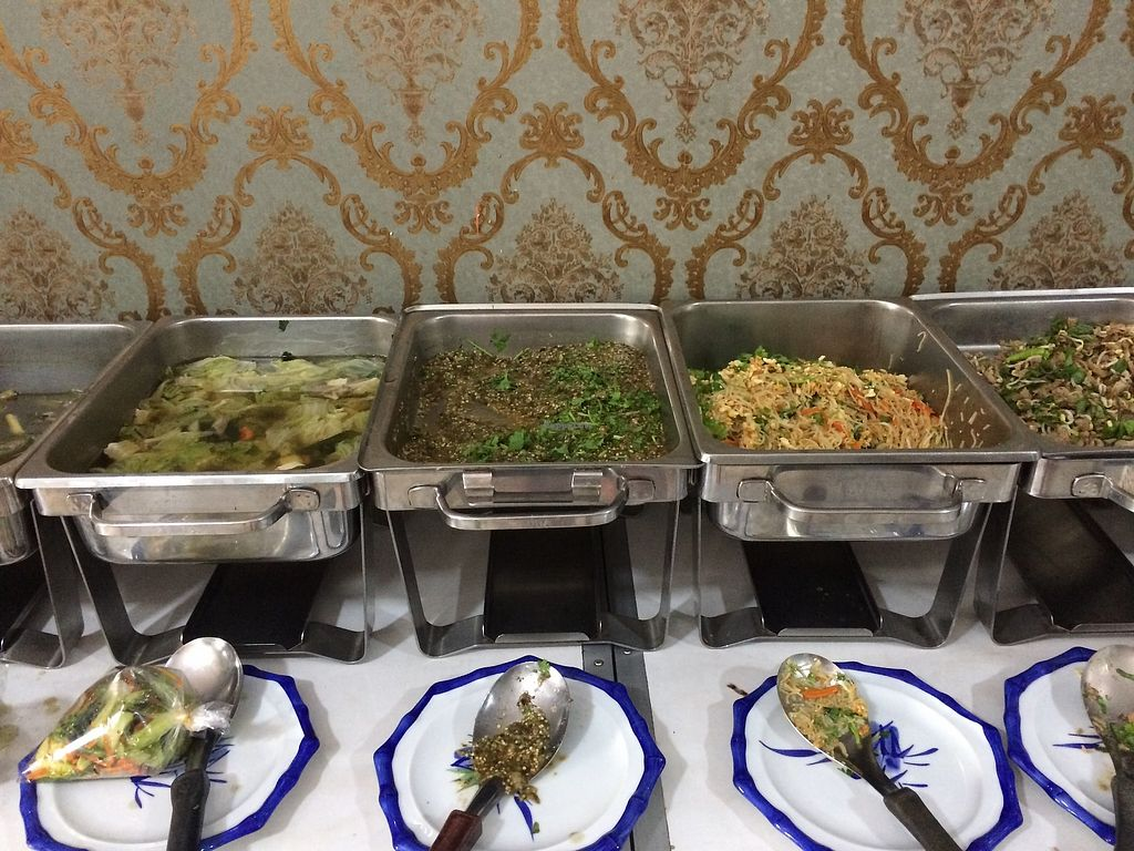 """Photo of Phounsub Restaurant  by <a href=""""/members/profile/LaurenceMontreuil"""">LaurenceMontreuil</a> <br/>All you can eat buffet for 30 000 kips <br/> November 23, 2017  - <a href='/contact/abuse/image/28485/328316'>Report</a>"""