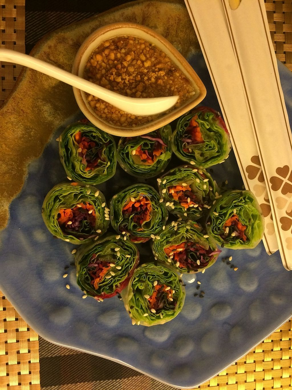 """Photo of May Veggie Home  by <a href=""""/members/profile/Megsriley_82"""">Megsriley_82</a> <br/>Vietnamese spring rolls with peanut sauce  <br/> April 2, 2018  - <a href='/contact/abuse/image/28511/379744'>Report</a>"""